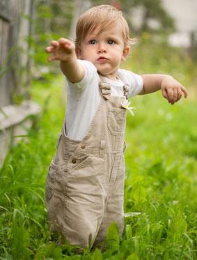 évolution visuelle d'un enfant de 1 an