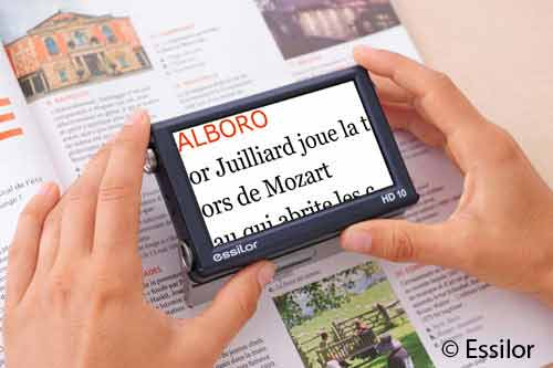 Aide /à la lecture /électronique pour basse vision Loupe num/érique de souris portable lecteur /électronique de souris vocale filaire jaune