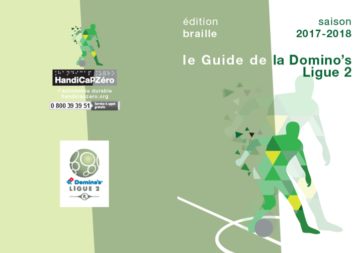 handicapzero Ligue 2 foot aveugles braille